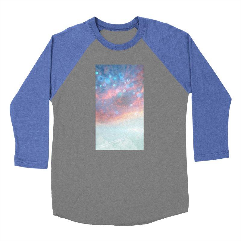 Teal SKY Women's Baseball Triblend Longsleeve T-Shirt by Vin Zzep's Artist Shop
