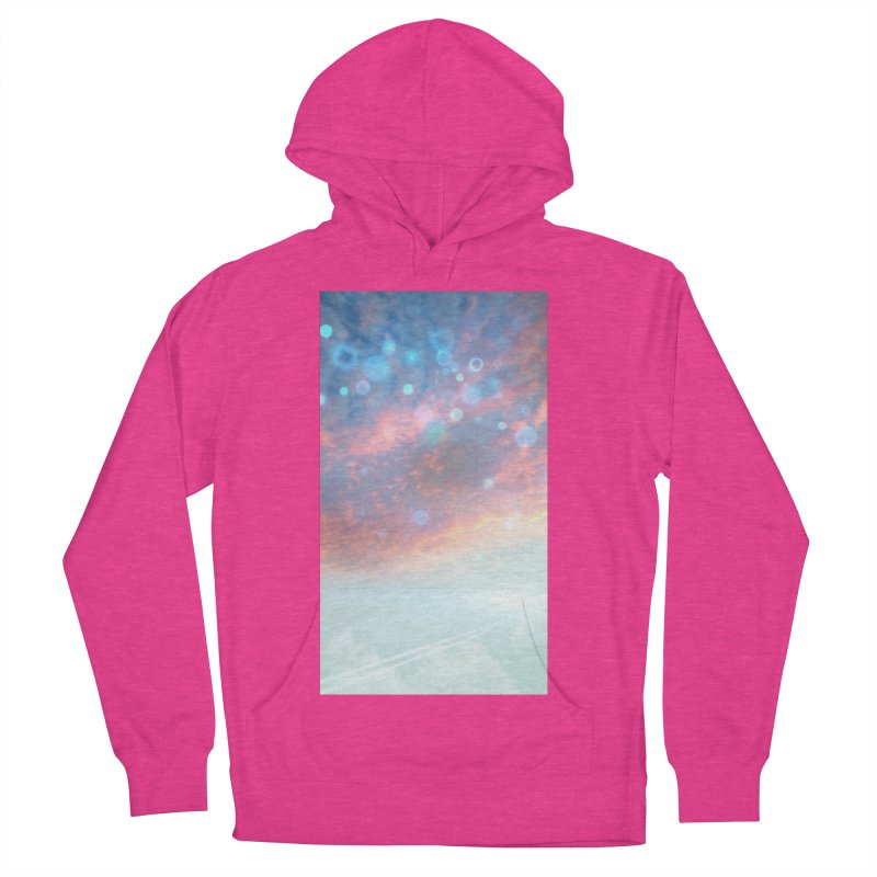 Teal SKY Women's French Terry Pullover Hoody by Vin Zzep's Artist Shop