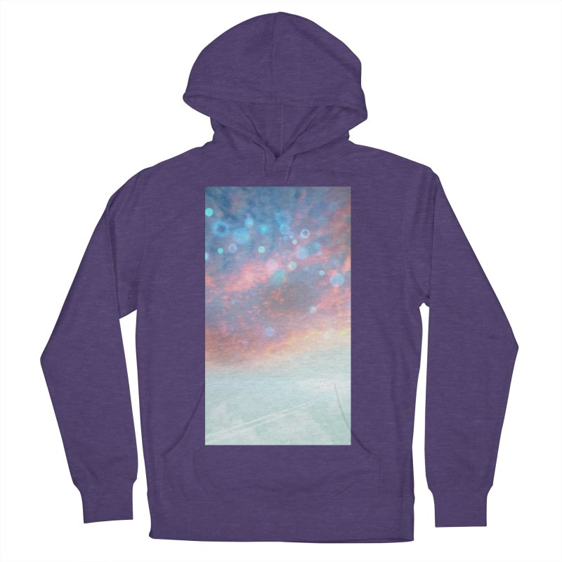 Teal SKY Men's French Terry Pullover Hoody by Vin Zzep's Artist Shop