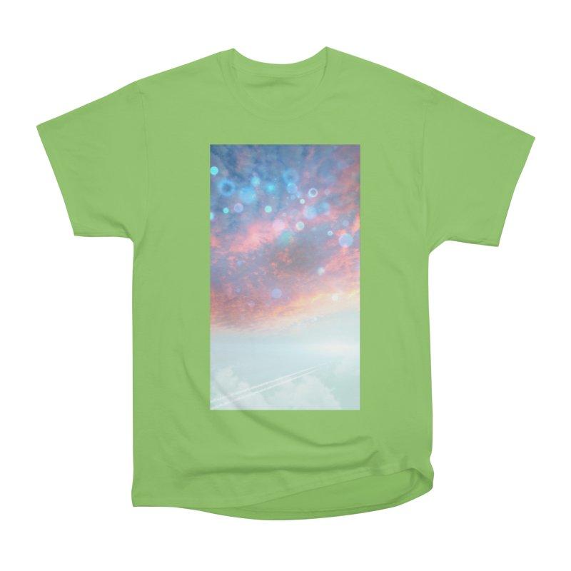 Teal SKY Men's Heavyweight T-Shirt by Vin Zzep's Artist Shop