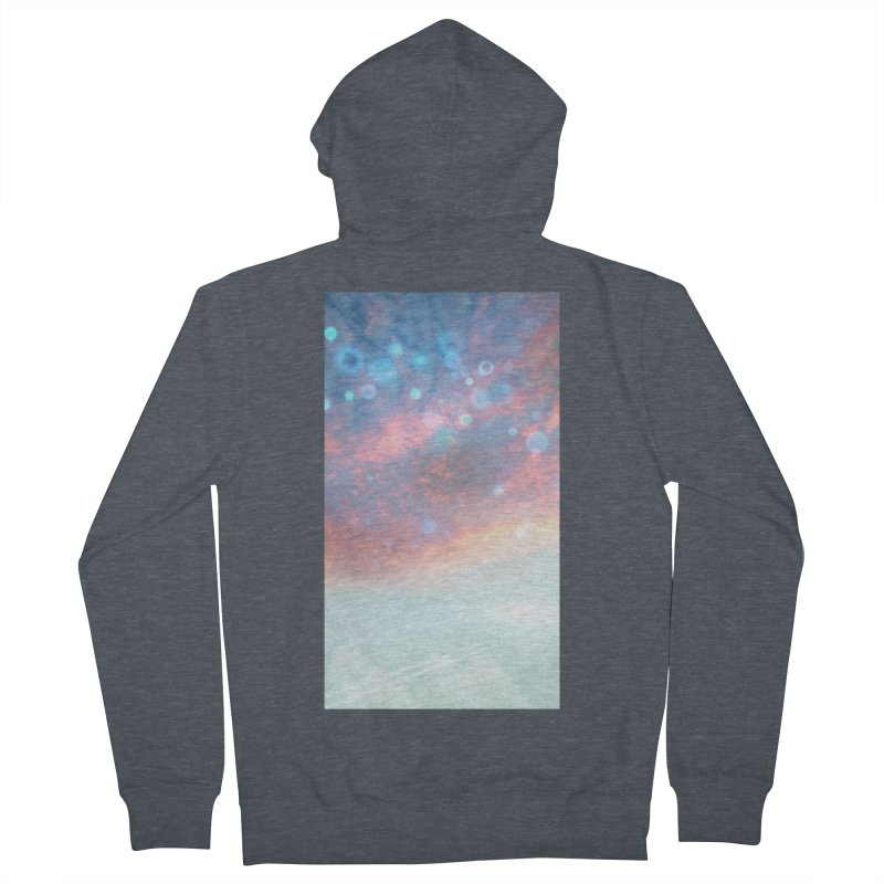 Teal SKY Women's French Terry Zip-Up Hoody by Vin Zzep's Artist Shop