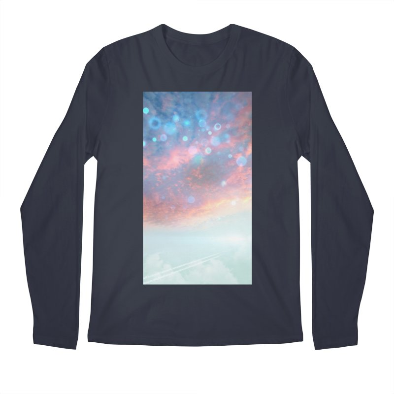 Teal SKY Men's Regular Longsleeve T-Shirt by Vin Zzep's Artist Shop