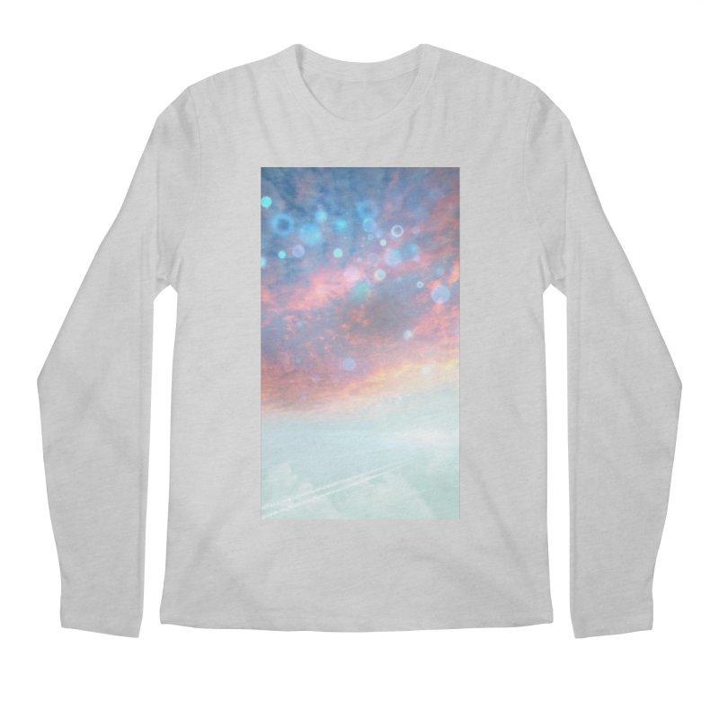 Teal SKY Men's Regular Longsleeve T-Shirt by Vin Zzep's Artist Shop