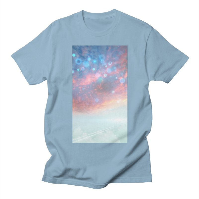 Teal SKY Men's Regular T-Shirt by Vin Zzep's Artist Shop