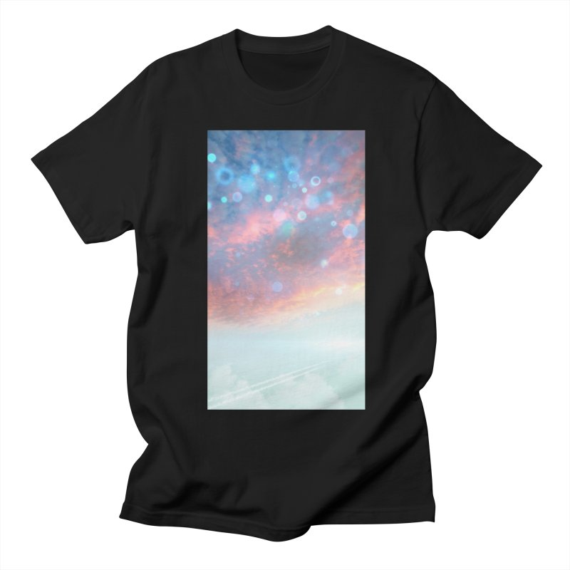 Teal SKY Men's T-Shirt by Vin Zzep's Artist Shop