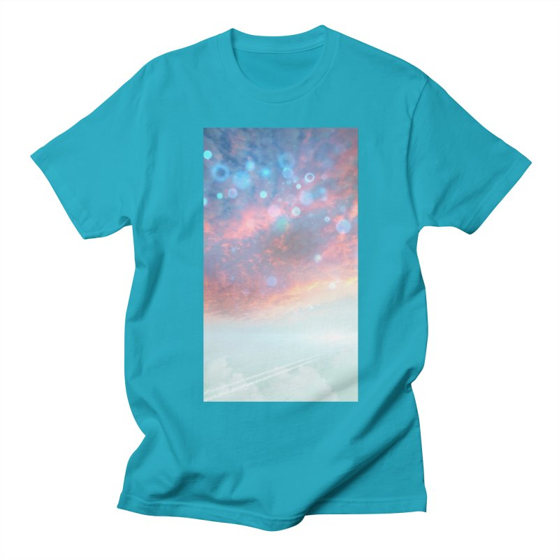 Teal SKY Men's Regular T-Shirt by Vin Zzep's Artist Shop