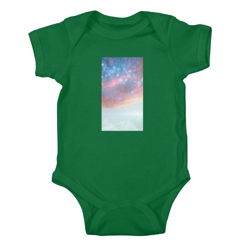 Teal SKY Kids Baby Bodysuit by Vin Zzep's Artist Shop
