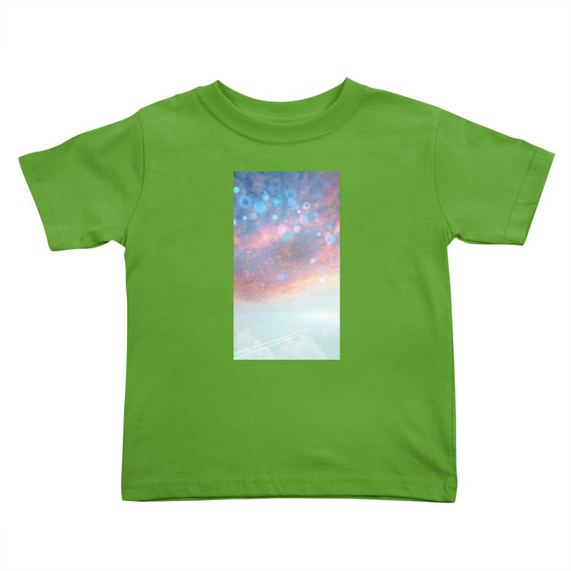 Teal SKY Kids Toddler T-Shirt by Vin Zzep's Artist Shop