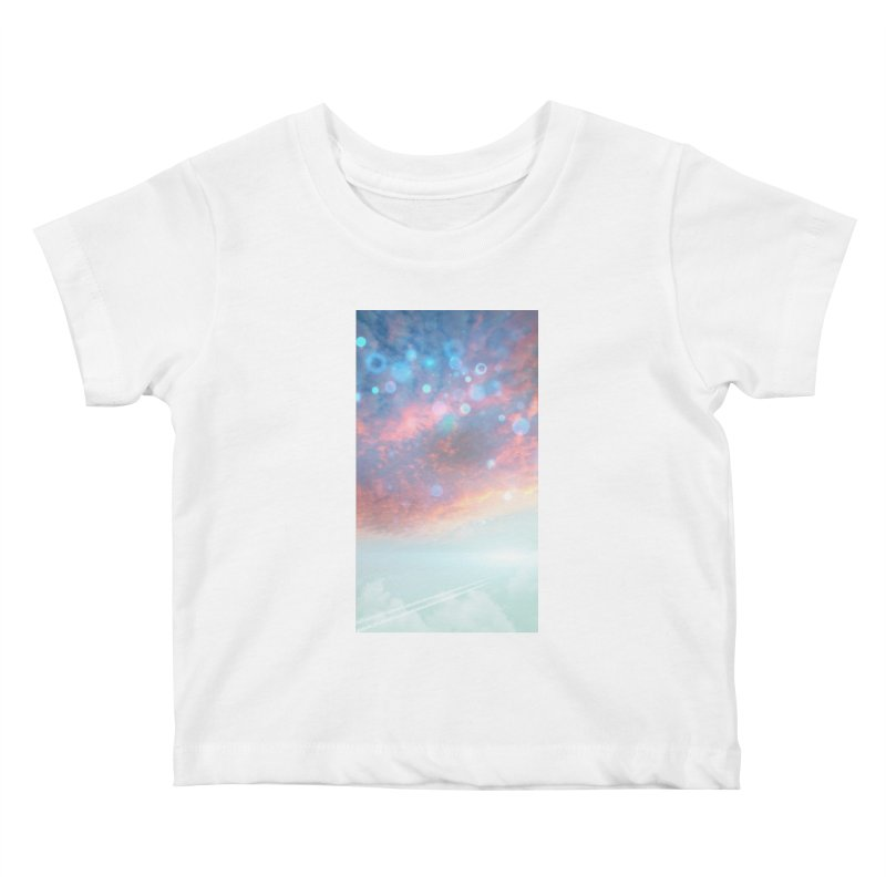 Teal SKY Kids Baby T-Shirt by Vin Zzep's Artist Shop