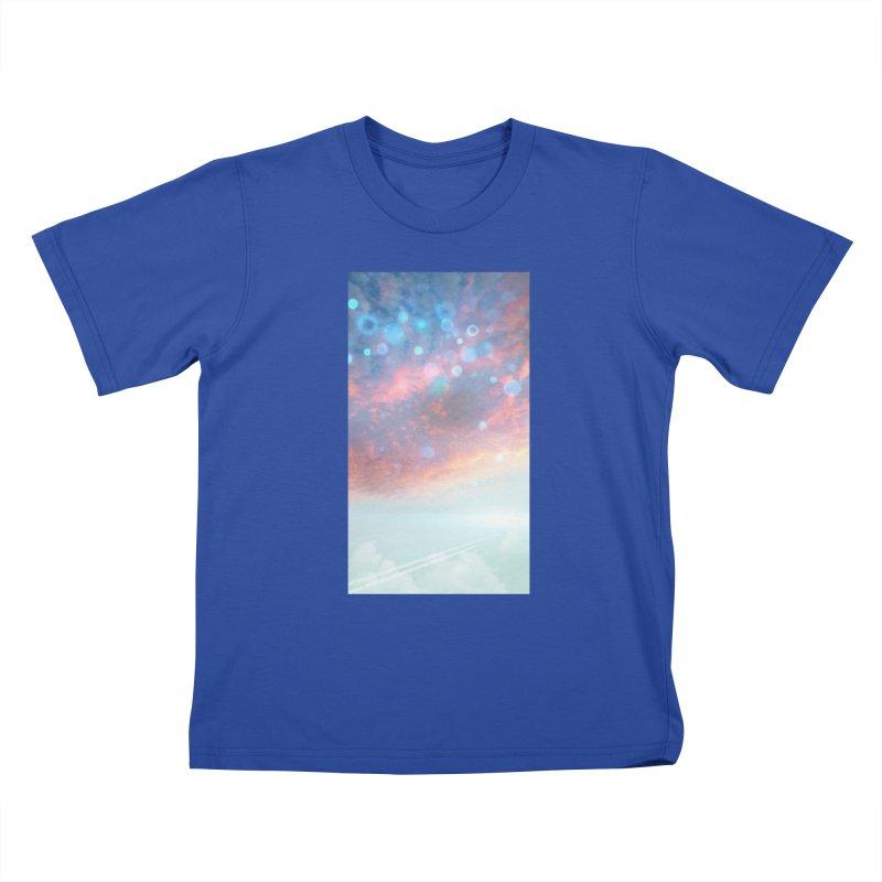 Teal SKY Kids T-Shirt by Vin Zzep's Artist Shop