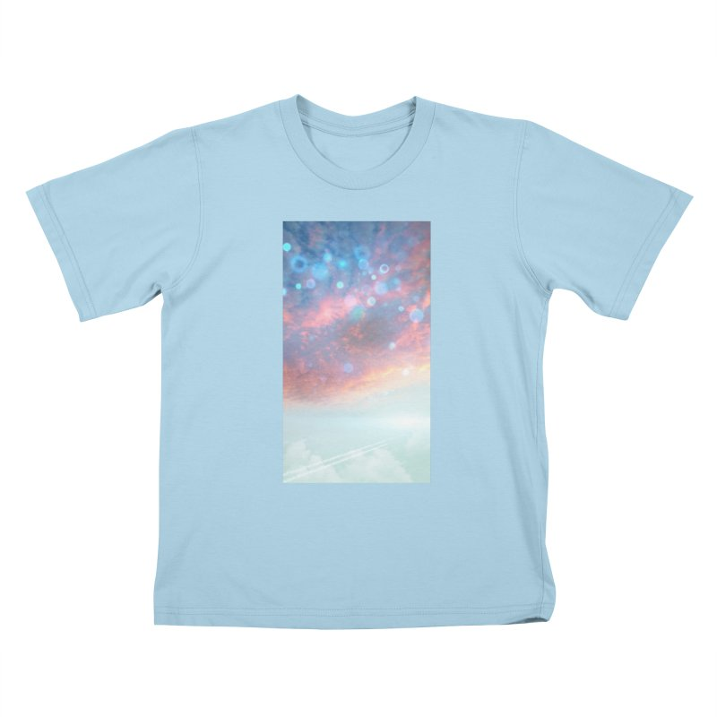 Teal SKY Kids T-Shirt by Vin Zzep's Artist Shop