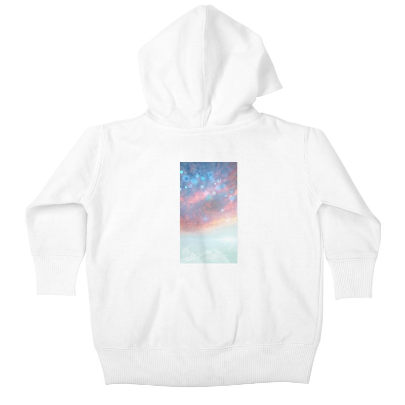 Teal SKY Kids Baby Zip-Up Hoody by Vin Zzep's Artist Shop