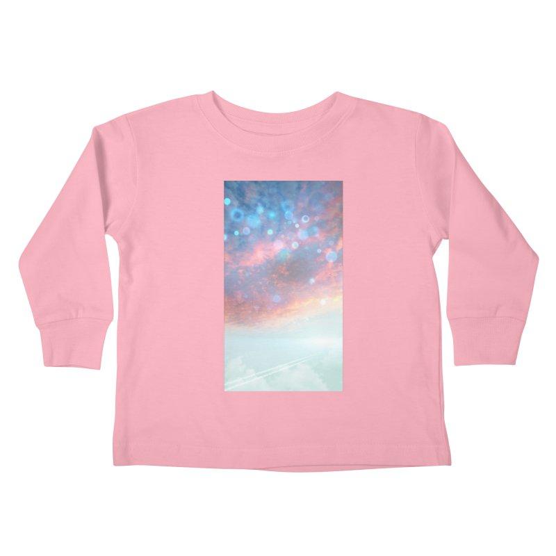 Teal SKY Kids Toddler Longsleeve T-Shirt by Vin Zzep's Artist Shop