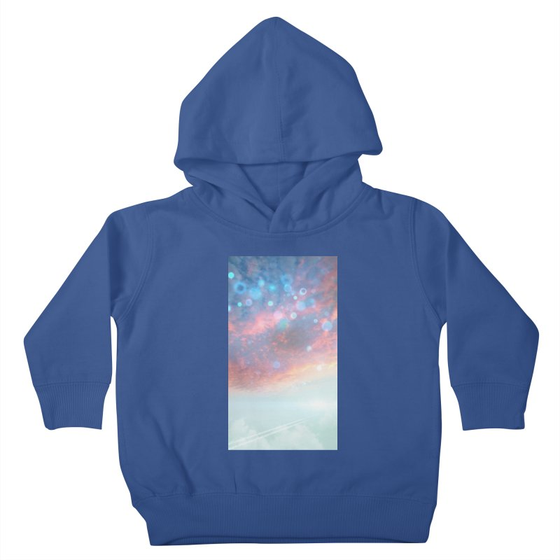 Teal SKY Kids Toddler Pullover Hoody by Vin Zzep's Artist Shop