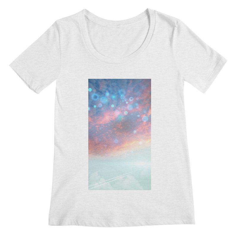 Teal SKY Women's Regular Scoop Neck by Vin Zzep's Artist Shop