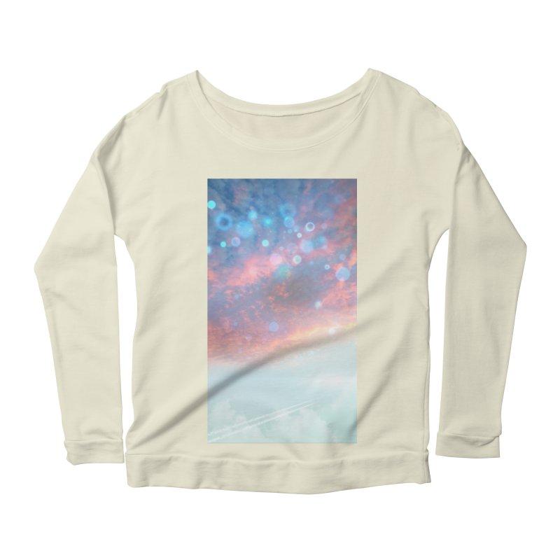 Teal SKY Women's Scoop Neck Longsleeve T-Shirt by Vin Zzep's Artist Shop