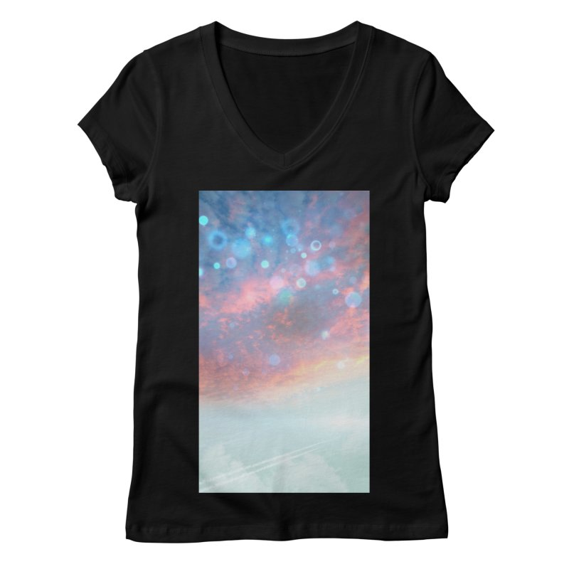 Teal SKY Women's V-Neck by Vin Zzep's Artist Shop