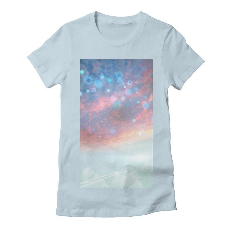 Teal SKY Women's T-Shirt by Vin Zzep's Artist Shop