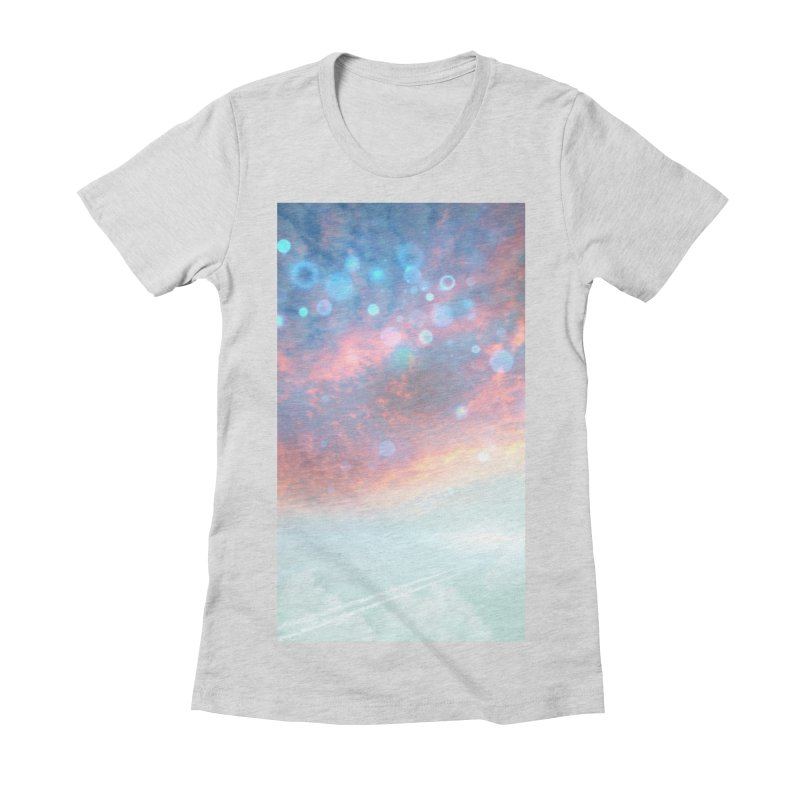 Teal SKY Women's Fitted T-Shirt by Vin Zzep's Artist Shop