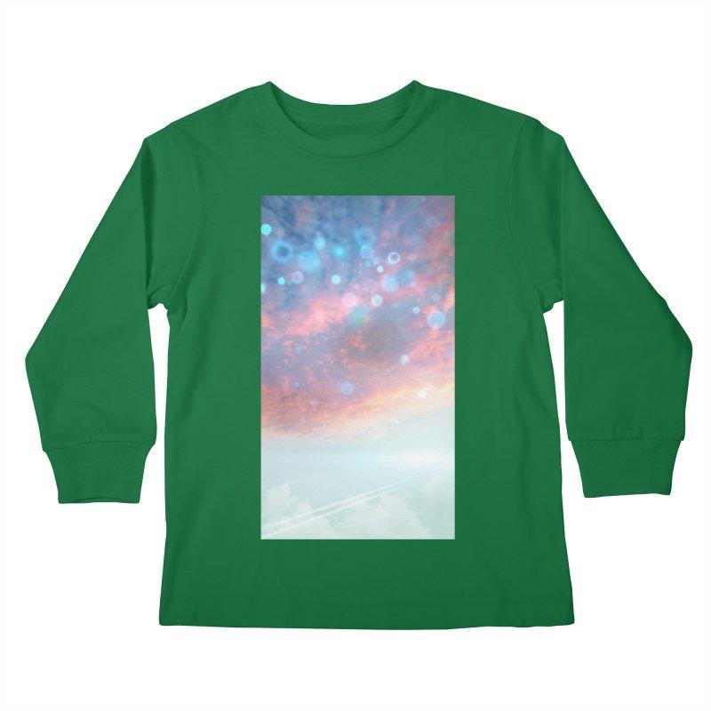 Teal SKY Kids Longsleeve T-Shirt by Vin Zzep's Artist Shop