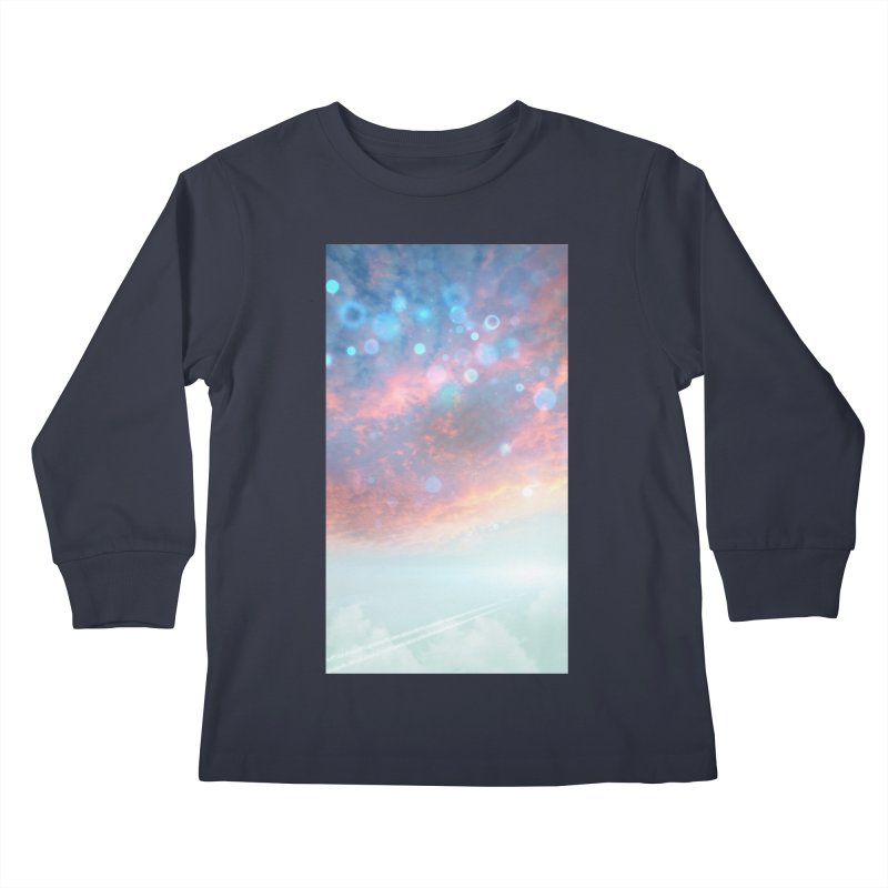 Teal SKY Kids Longsleeve T-Shirt by Vin Zzep's Artist Shop