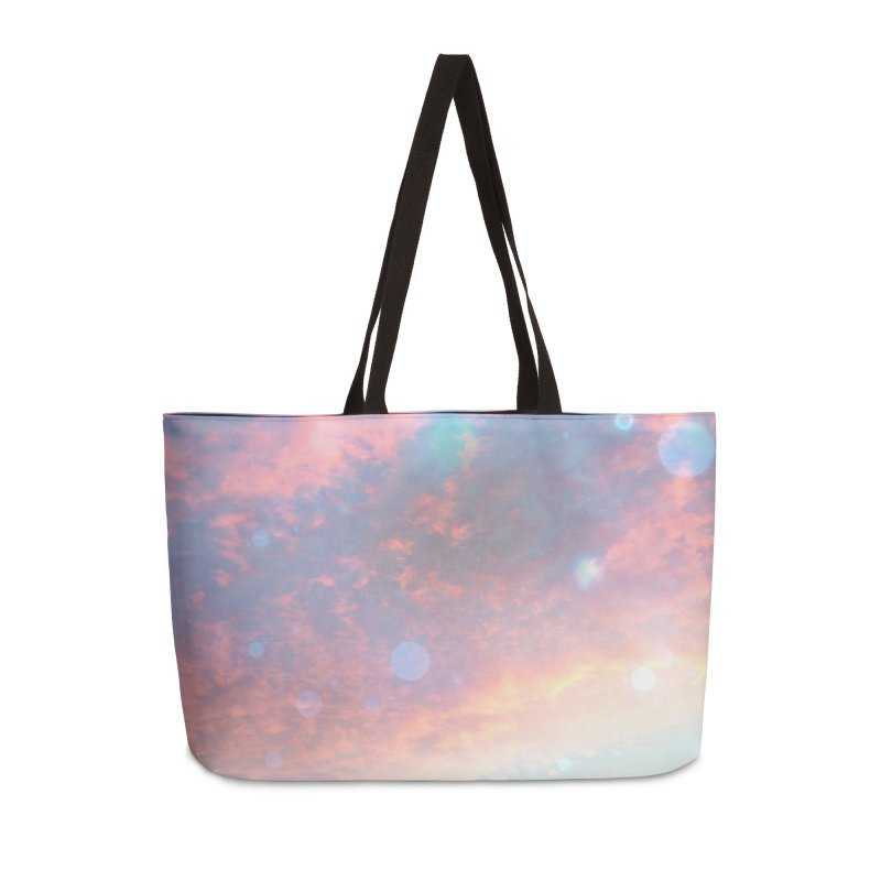Teal SKY Accessories Weekender Bag Bag by Vin Zzep's Artist Shop