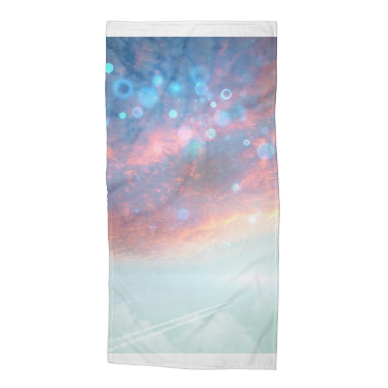 Teal SKY Accessories Beach Towel by Vin Zzep's Artist Shop