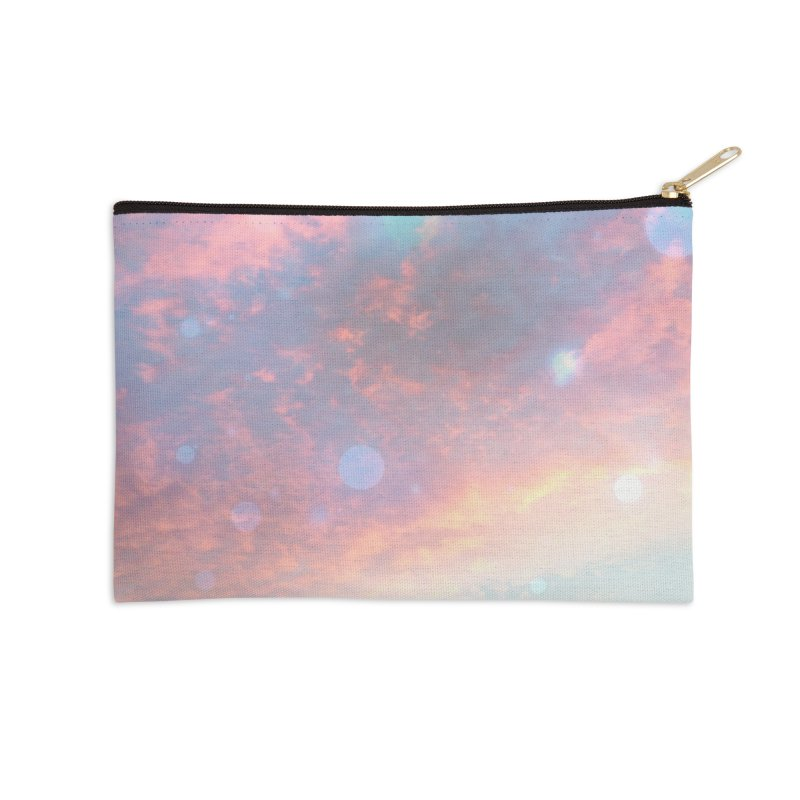 Teal SKY Accessories Zip Pouch by Vin Zzep's Artist Shop
