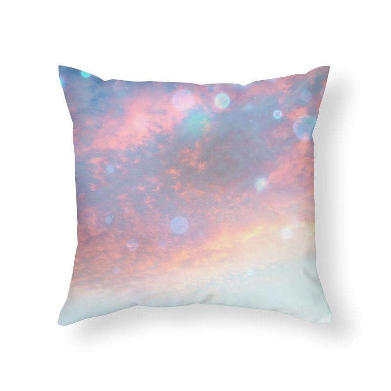 Teal SKY Home Throw Pillow by Vin Zzep's Artist Shop