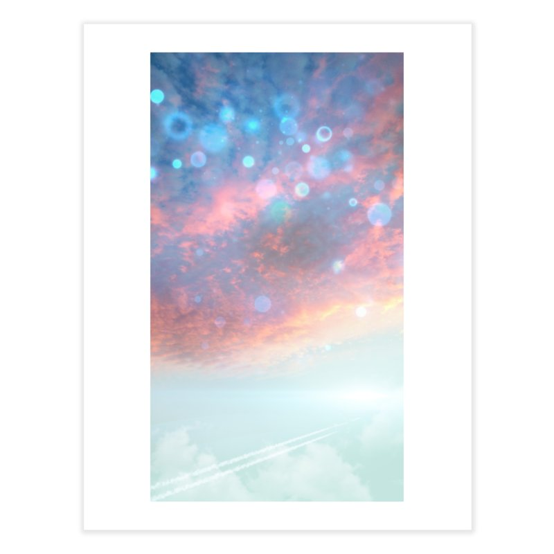 Teal SKY Home Fine Art Print by Vin Zzep's Artist Shop