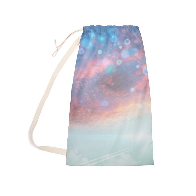 Teal SKY Accessories Laundry Bag Bag by Vin Zzep's Artist Shop