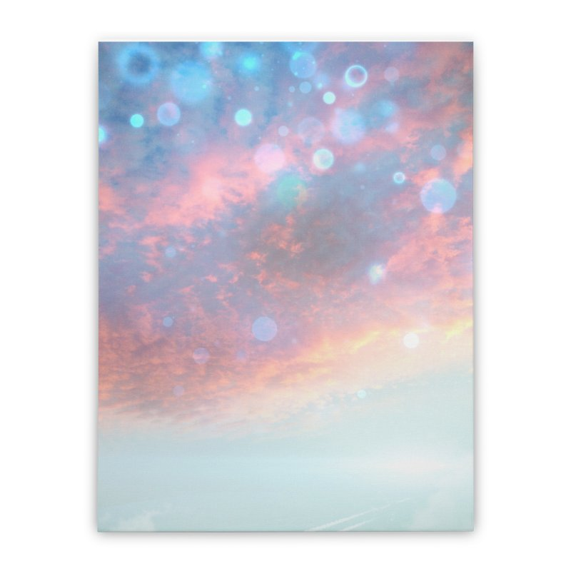 Teal SKY Home Stretched Canvas by Vin Zzep's Artist Shop