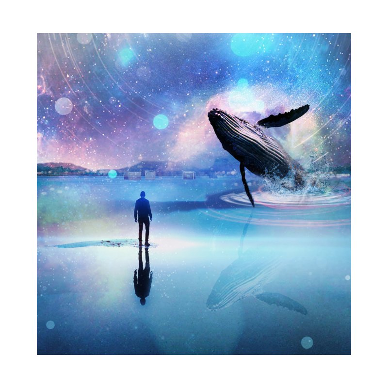 The Sound of Whales Home Framed Fine Art Print by Vin Zzep's Artist Shop