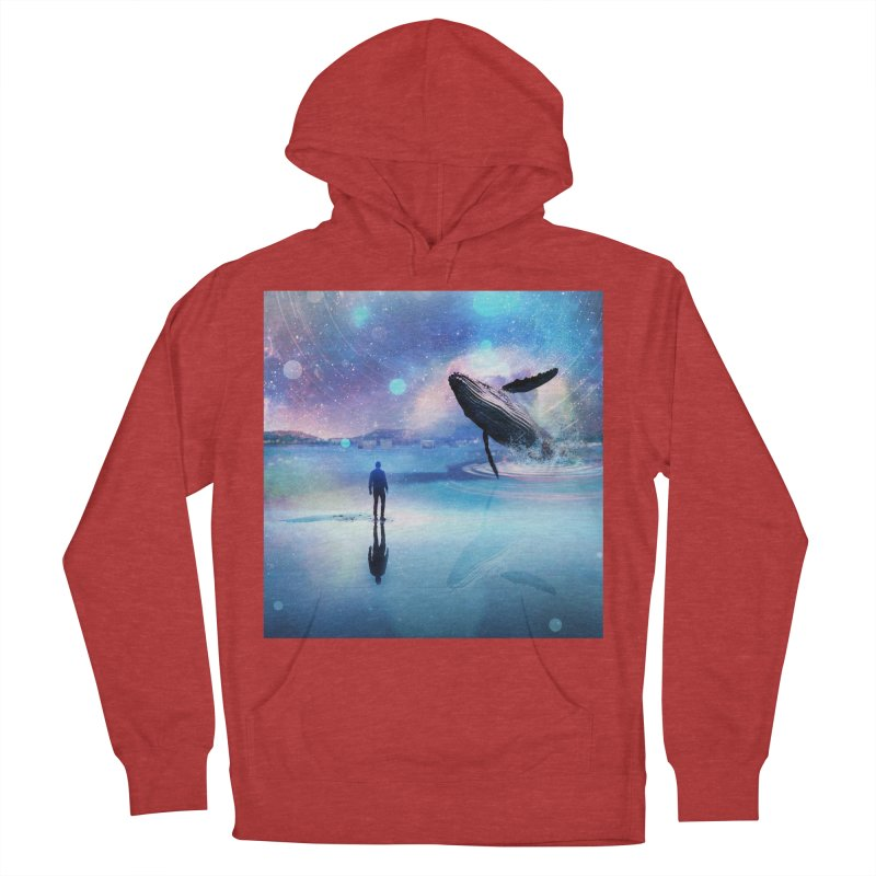 The Sound of Whales Women's French Terry Pullover Hoody by Vin Zzep's Artist Shop