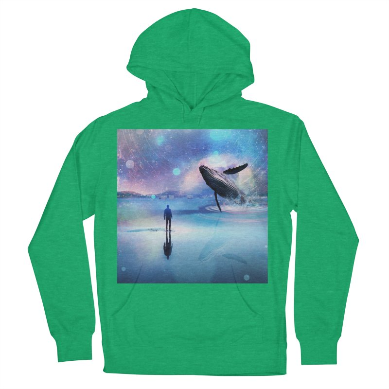 The Sound of Whales Men's French Terry Pullover Hoody by Vin Zzep's Artist Shop