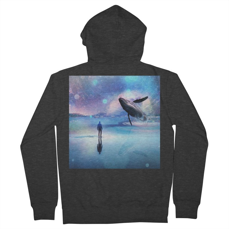 The Sound of Whales Women's French Terry Zip-Up Hoody by Vin Zzep's Artist Shop
