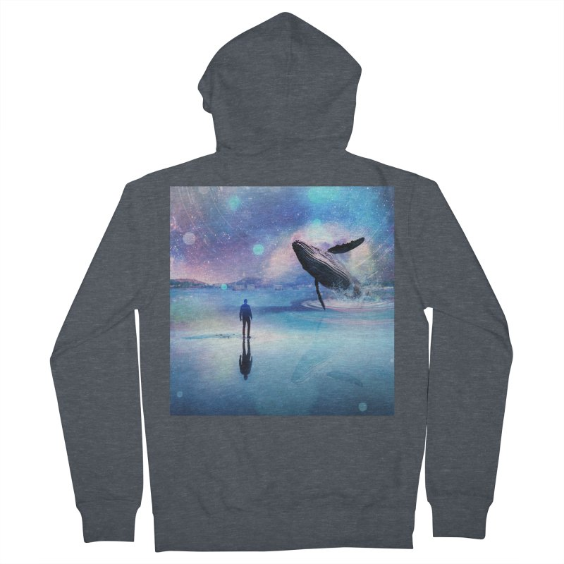 The Sound of Whales Men's French Terry Zip-Up Hoody by Vin Zzep's Artist Shop