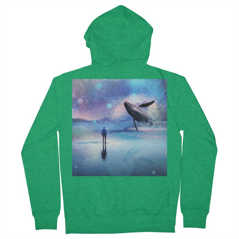 The Sound of Whales Men's Zip-Up Hoody by Vin Zzep's Artist Shop