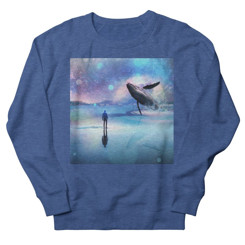 The Sound of Whales Women's French Terry Sweatshirt by Vin Zzep's Artist Shop
