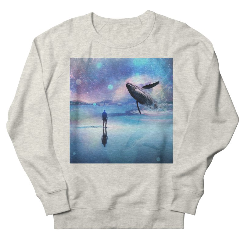 The Sound of Whales Men's French Terry Sweatshirt by Vin Zzep's Artist Shop