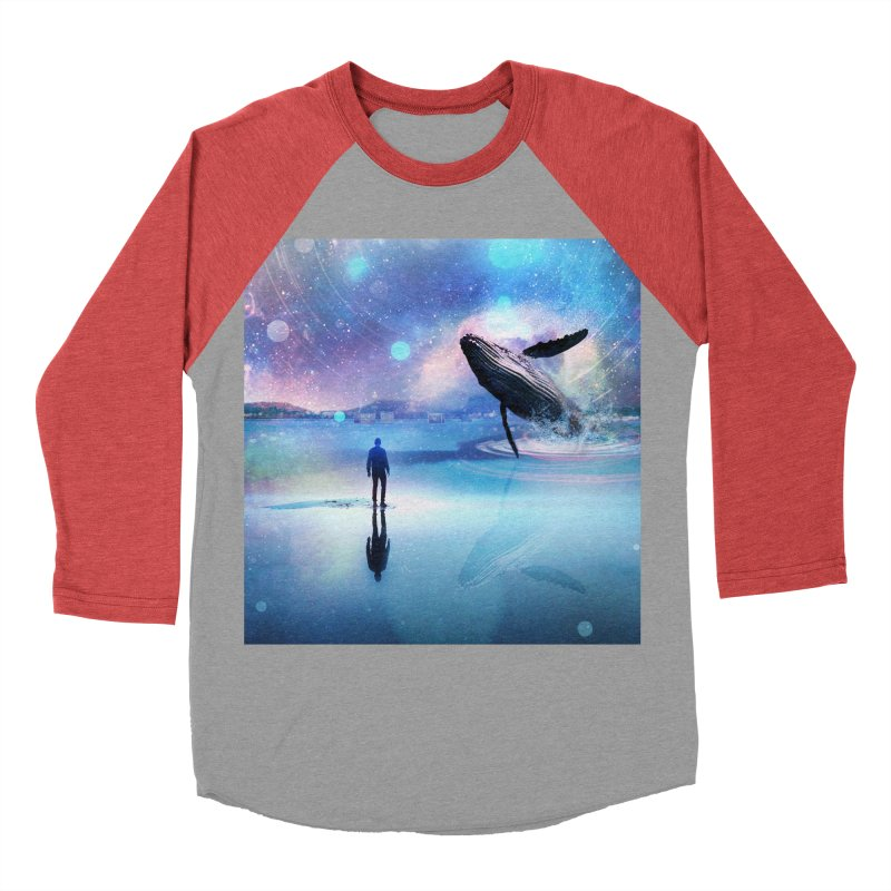 The Sound of Whales Men's Baseball Triblend Longsleeve T-Shirt by Vin Zzep's Artist Shop
