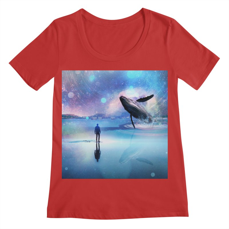 The Sound of Whales Women's Regular Scoop Neck by Vin Zzep's Artist Shop