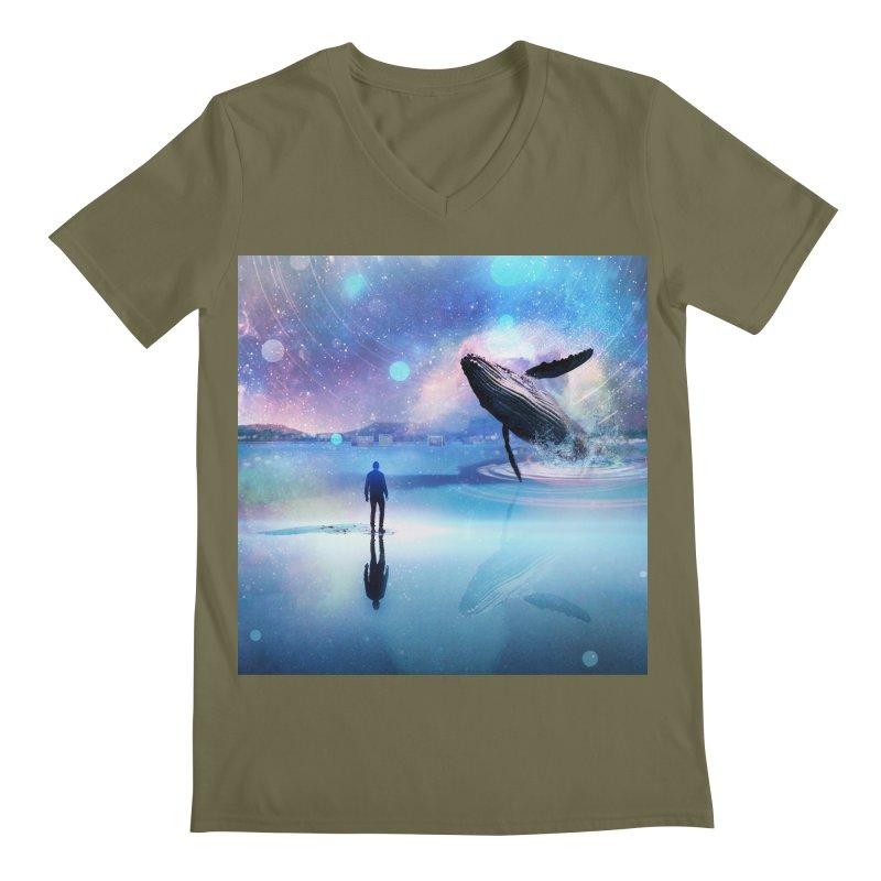 The Sound of Whales Men's Regular V-Neck by Vin Zzep's Artist Shop