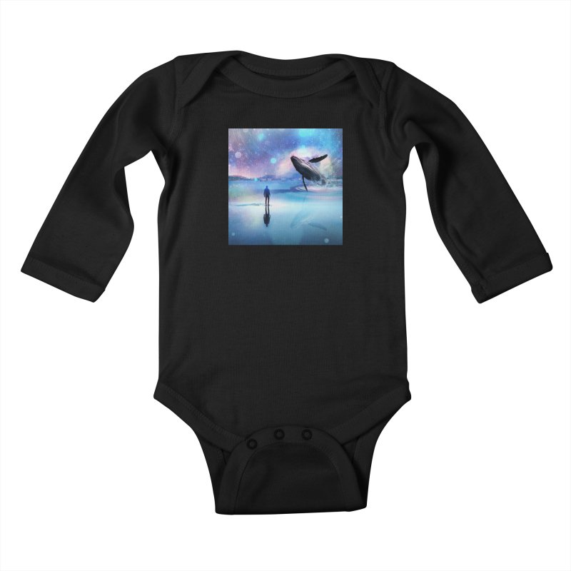 The Sound of Whales Kids Baby Longsleeve Bodysuit by Vin Zzep's Artist Shop