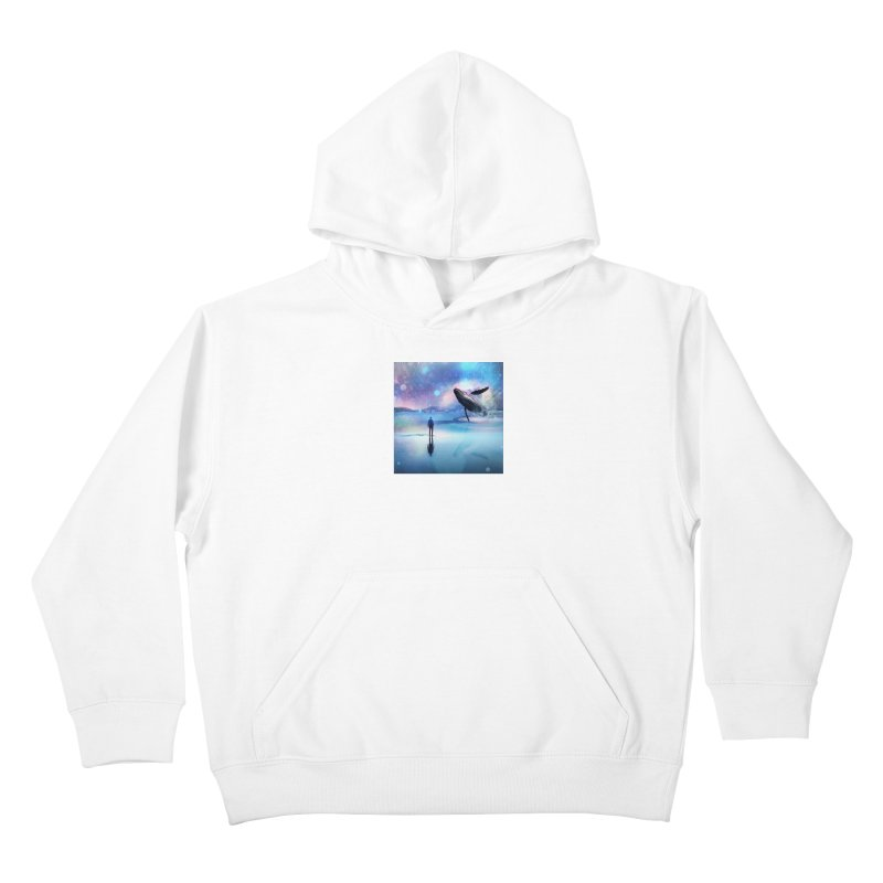 The Sound of Whales Kids Pullover Hoody by Vin Zzep's Artist Shop