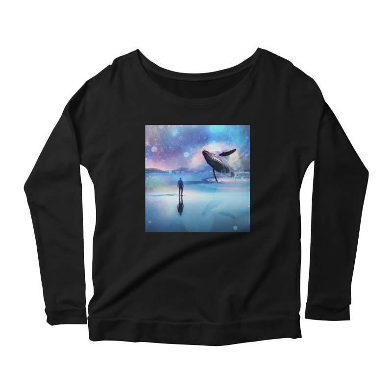 The Sound of Whales Women's Scoop Neck Longsleeve T-Shirt by Vin Zzep's Artist Shop