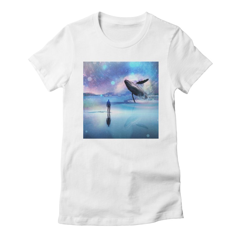 The Sound of Whales Women's Fitted T-Shirt by Vin Zzep's Artist Shop