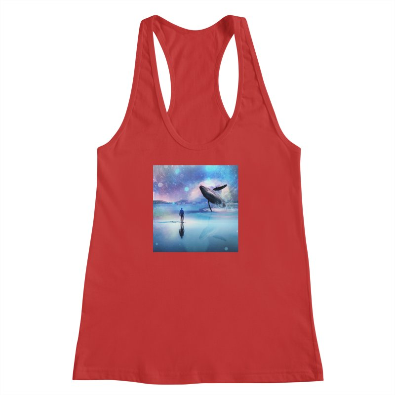 The Sound of Whales Women's Racerback Tank by Vin Zzep's Artist Shop