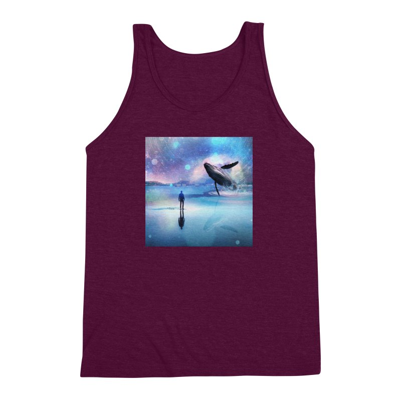 The Sound of Whales Men's Triblend Tank by Vin Zzep's Artist Shop