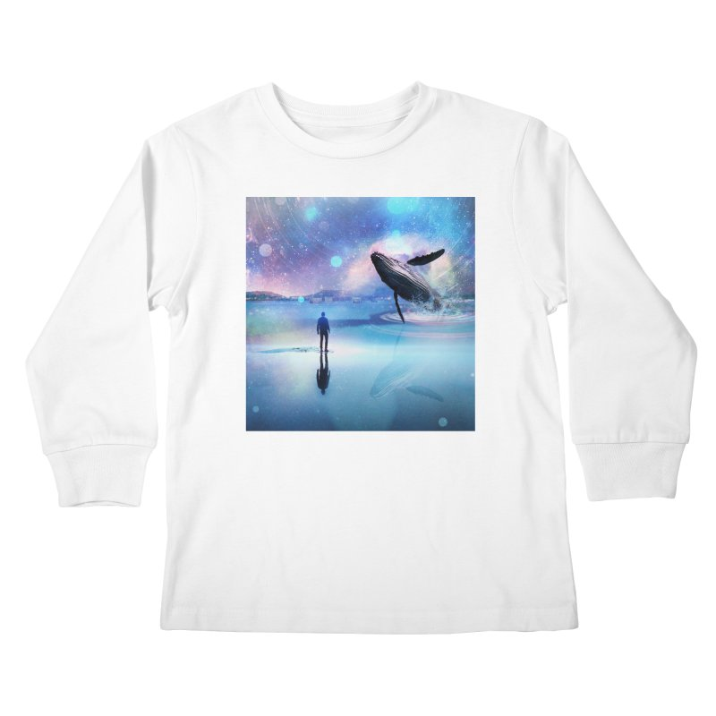 The Sound of Whales Kids Longsleeve T-Shirt by Vin Zzep's Artist Shop